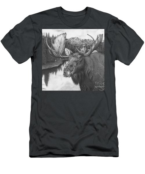 Melozi River Moose Men's T-Shirt (Athletic Fit)