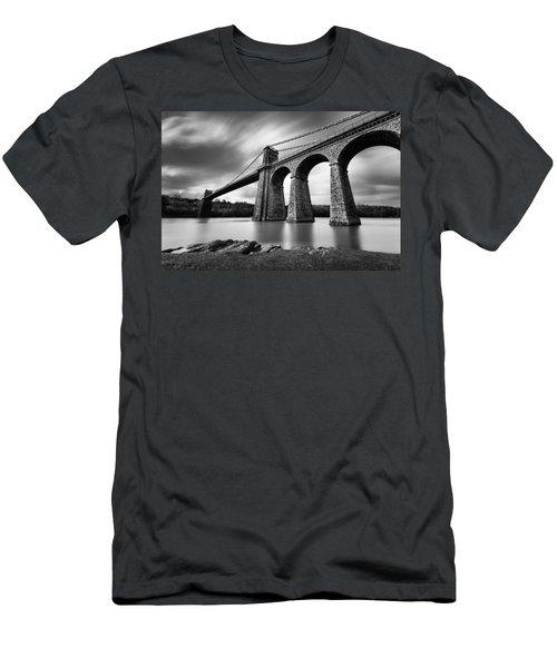 Menai Suspension Bridge Men's T-Shirt (Athletic Fit)