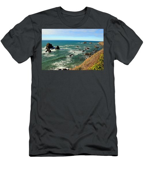 Mendocino Rocks Men's T-Shirt (Athletic Fit)