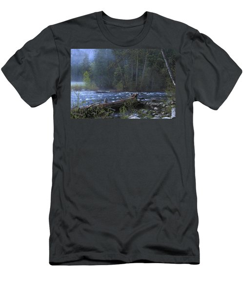 Merced River Men's T-Shirt (Slim Fit) by Duncan Selby