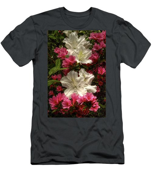 Merging Azaleas  Men's T-Shirt (Athletic Fit)