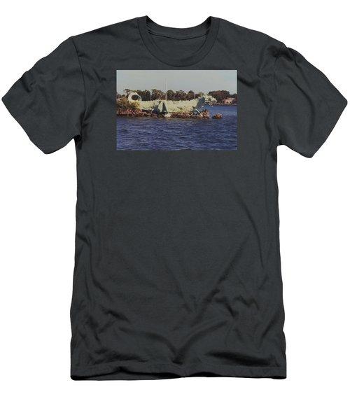 Merritt Island River Dragon Men's T-Shirt (Slim Fit) by Bradford Martin