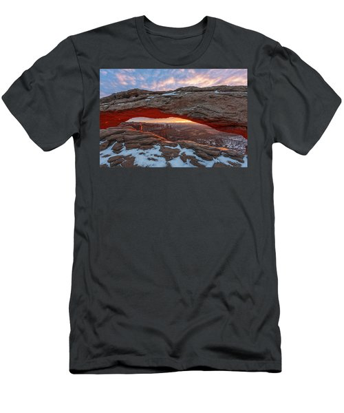 Men's T-Shirt (Athletic Fit) featuring the photograph Mesa Arch Sunrise by Dustin  LeFevre
