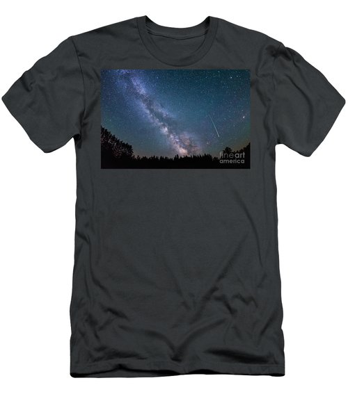 Meteor Milky Way  Men's T-Shirt (Athletic Fit)