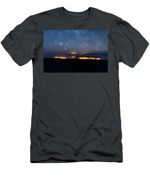 Meteor Over The Big Island Men's T-Shirt (Athletic Fit)