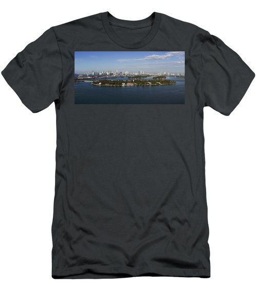 Miami And Star Island Skyline Men's T-Shirt (Athletic Fit)