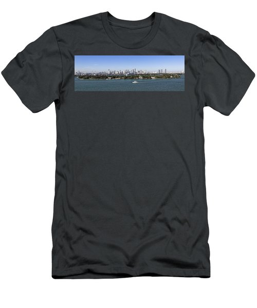Miami Daytime Panorama Men's T-Shirt (Athletic Fit)