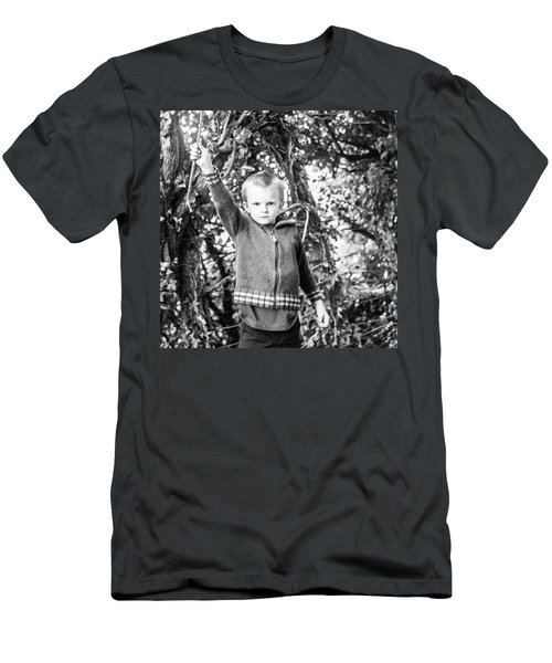 Micah Exploring In The Forest Men's T-Shirt (Athletic Fit)