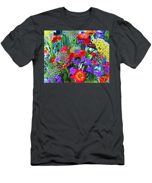 Mid August Bouquet Men's T-Shirt (Athletic Fit)