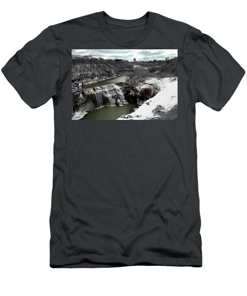 Middle Falls Rochester Ny Men's T-Shirt (Slim Fit) by Richard Engelbrecht
