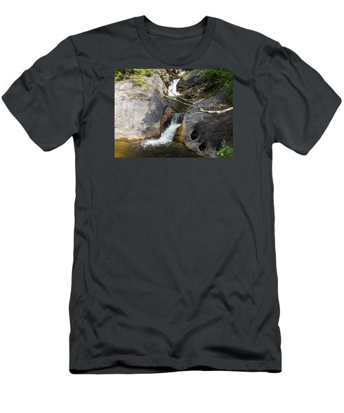 Middle Kent Falls Men's T-Shirt (Athletic Fit)