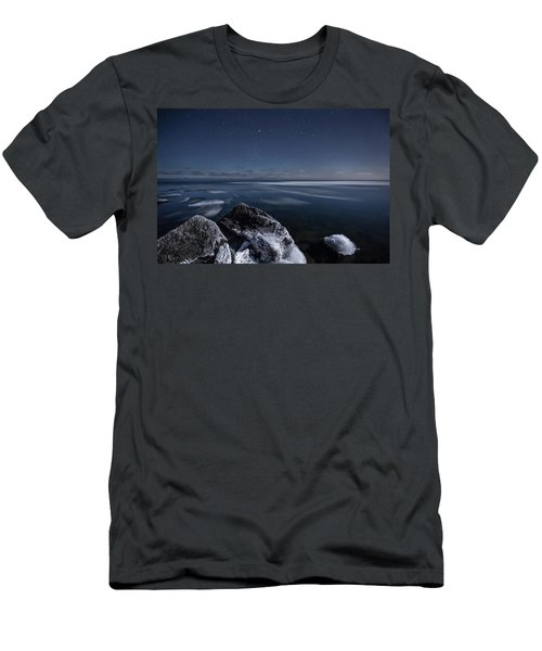 Midnight Freeze At Silver Harbour Men's T-Shirt (Athletic Fit)