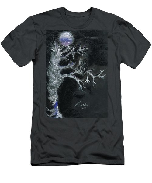 Men's T-Shirt (Slim Fit) featuring the drawing Midnight Owl by Teresa White