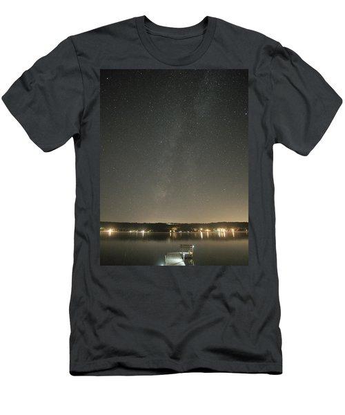 Milky Way Spills Into Conesus Men's T-Shirt (Slim Fit) by Richard Engelbrecht