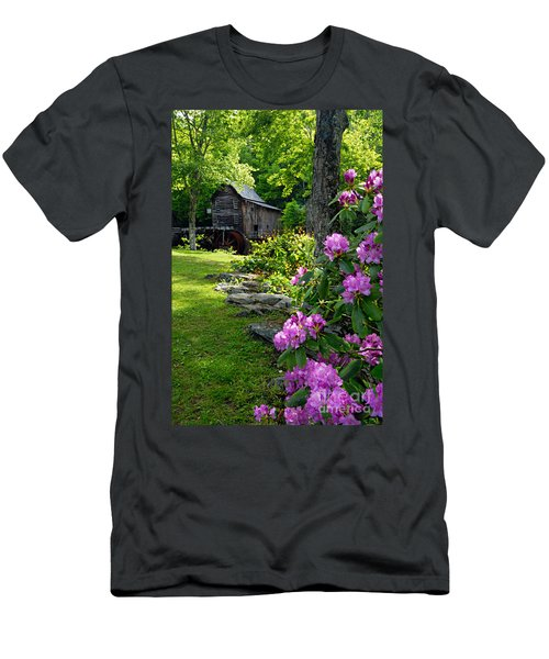 Mill And Rhododendrons Men's T-Shirt (Athletic Fit)