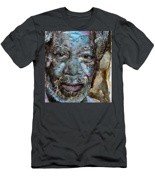 Men's T-Shirt (Slim Fit) featuring the painting Million Dollar Baby by Laur Iduc