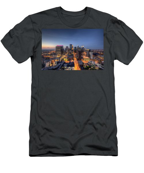 Minneapolis Skyline At Night Men's T-Shirt (Athletic Fit)