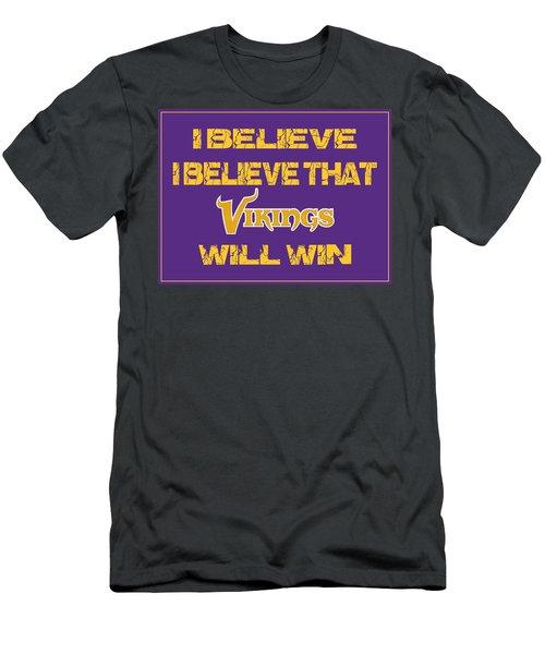 Minnesota Vikings I Believe Men's T-Shirt (Athletic Fit)
