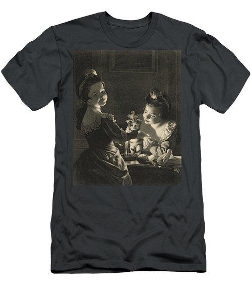 Miss Kitty Dressing, 1781 Mezzotint Men's T-Shirt (Athletic Fit)