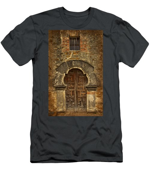 Men's T-Shirt (Athletic Fit) featuring the photograph Mission Espada Doorway by Jemmy Archer