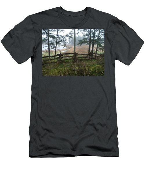 Men's T-Shirt (Slim Fit) featuring the photograph Misty Flats by Cheryl Hoyle