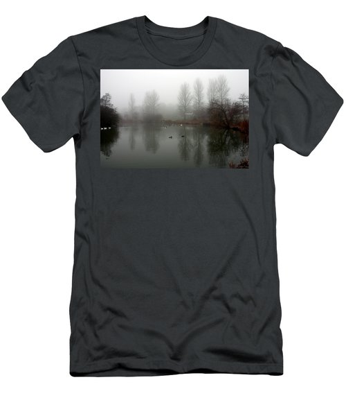 Misty Lake Reflections Men's T-Shirt (Athletic Fit)