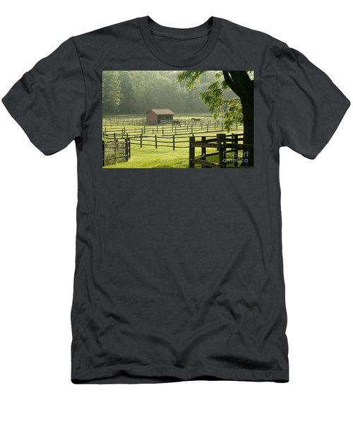 Misty Morning Maze Men's T-Shirt (Athletic Fit)