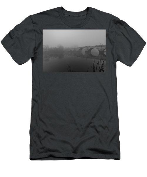 Misty Richmond Bridge Men's T-Shirt (Slim Fit) by Maj Seda
