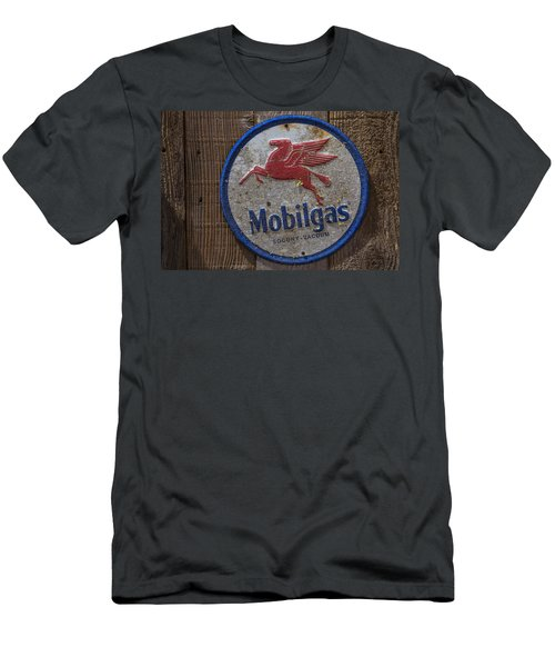 Mobil Gas Sign Men's T-Shirt (Athletic Fit)