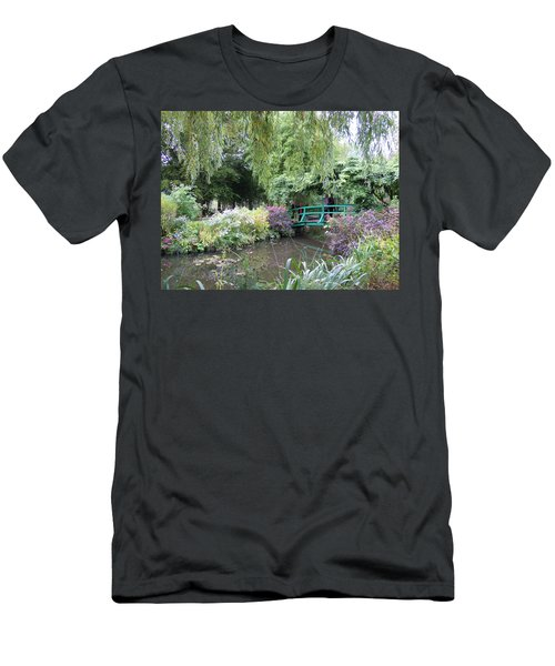 Monet's Japanese Bridge Men's T-Shirt (Slim Fit) by Ellen Meakin