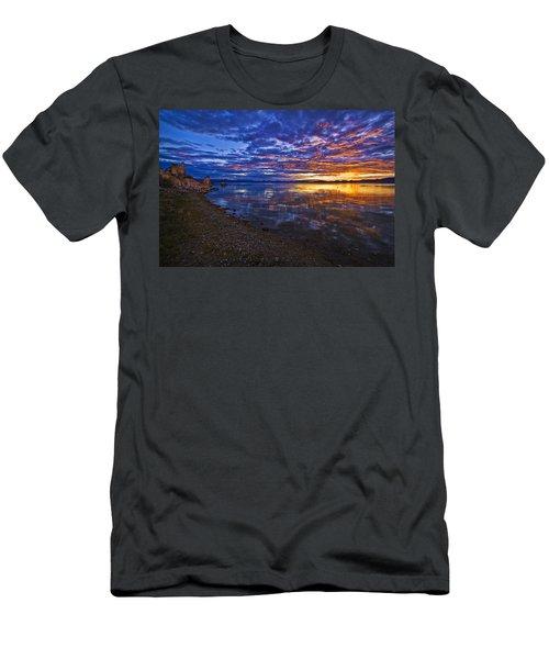 Men's T-Shirt (Slim Fit) featuring the photograph Mono Lake Sunrise by Priscilla Burgers