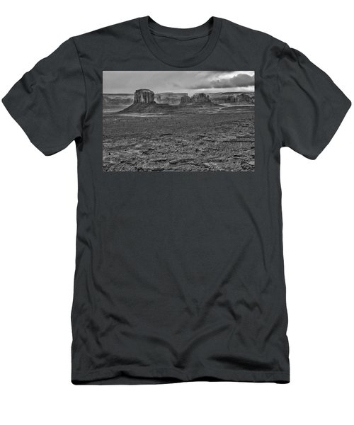 Men's T-Shirt (Slim Fit) featuring the photograph Monument Valley 4 Bw by Ron White