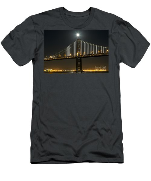 Moon Atop The Bridge Men's T-Shirt (Athletic Fit)