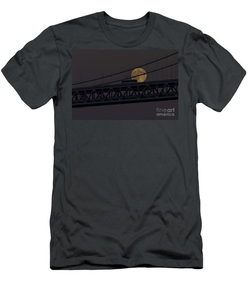 Men's T-Shirt (Slim Fit) featuring the photograph Moon Bridge Bus by Kate Brown