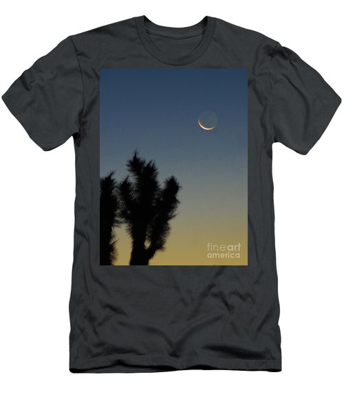 Men's T-Shirt (Slim Fit) featuring the photograph Moon Kissed by Angela J Wright