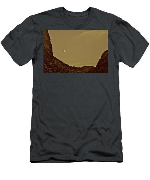 Moon Over Crag Utah Men's T-Shirt (Athletic Fit)
