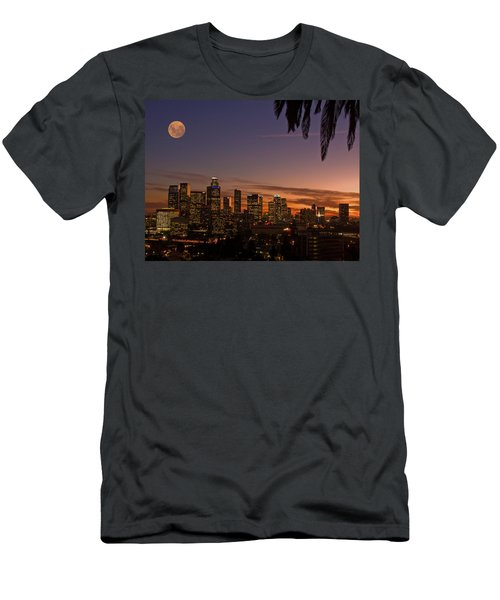 Moon Over L.a. Men's T-Shirt (Athletic Fit)