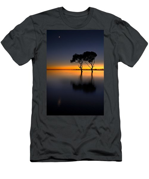 Moon Over Mangrove Trees Men's T-Shirt (Athletic Fit)