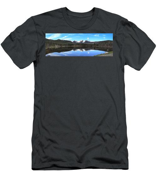 Moon Over Sprague Lake Men's T-Shirt (Athletic Fit)
