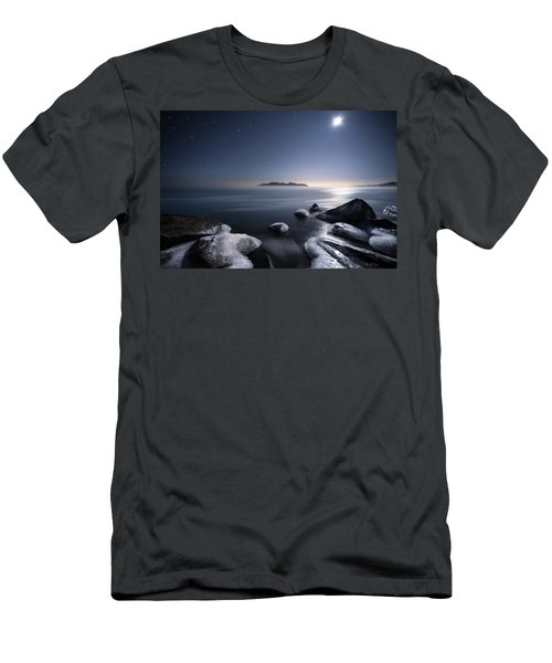 Moon Over Thunder Bay From Silver Harbour Men's T-Shirt (Athletic Fit)