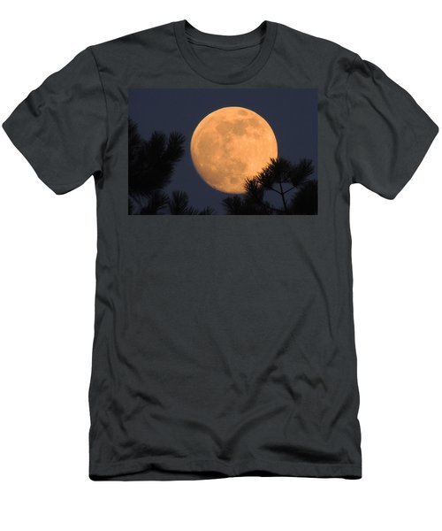 Men's T-Shirt (Slim Fit) featuring the photograph Moon Pines by Charlotte Schafer