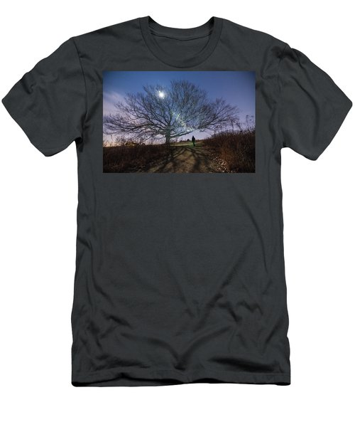 Moon Tree Men's T-Shirt (Athletic Fit)