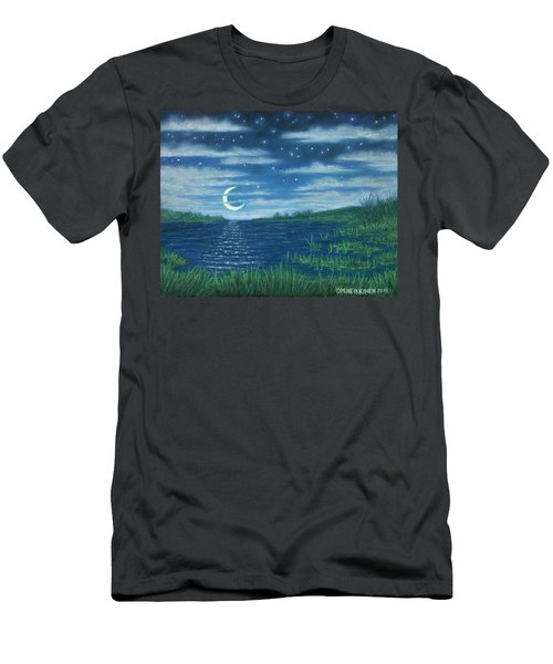 Moonlit Lagoon Men's T-Shirt (Athletic Fit)