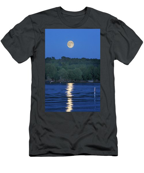 Reflections Of Luna Men's T-Shirt (Slim Fit) by Richard Engelbrecht