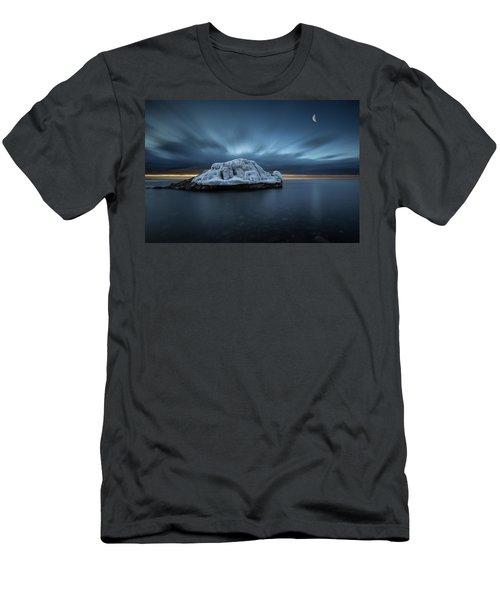 Moonset Before Sunrise The Lutsen Rock Men's T-Shirt (Athletic Fit)