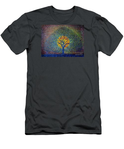 Men's T-Shirt (Slim Fit) featuring the painting Moonshine by Viktor Lazarev