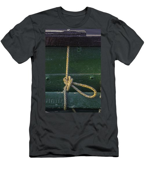 Men's T-Shirt (Slim Fit) featuring the photograph Mooring Hitch by Marty Saccone