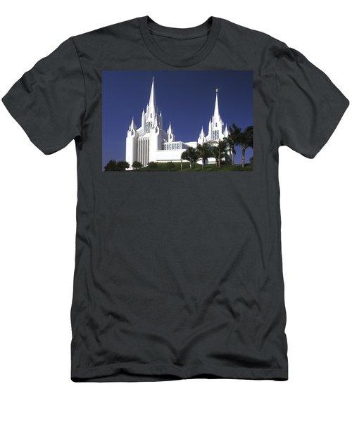 Mormon Temple Men's T-Shirt (Athletic Fit)