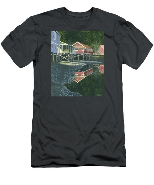 Morning At Telegraph Cove Men's T-Shirt (Slim Fit) by Gary Giacomelli