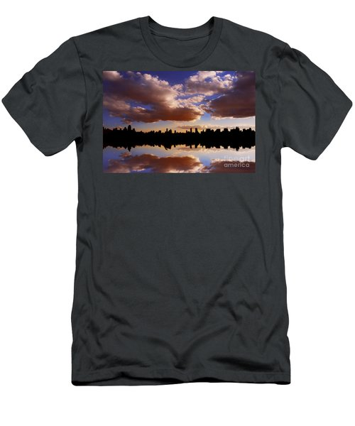 Morning At The Reservoir New York City Usa Men's T-Shirt (Athletic Fit)